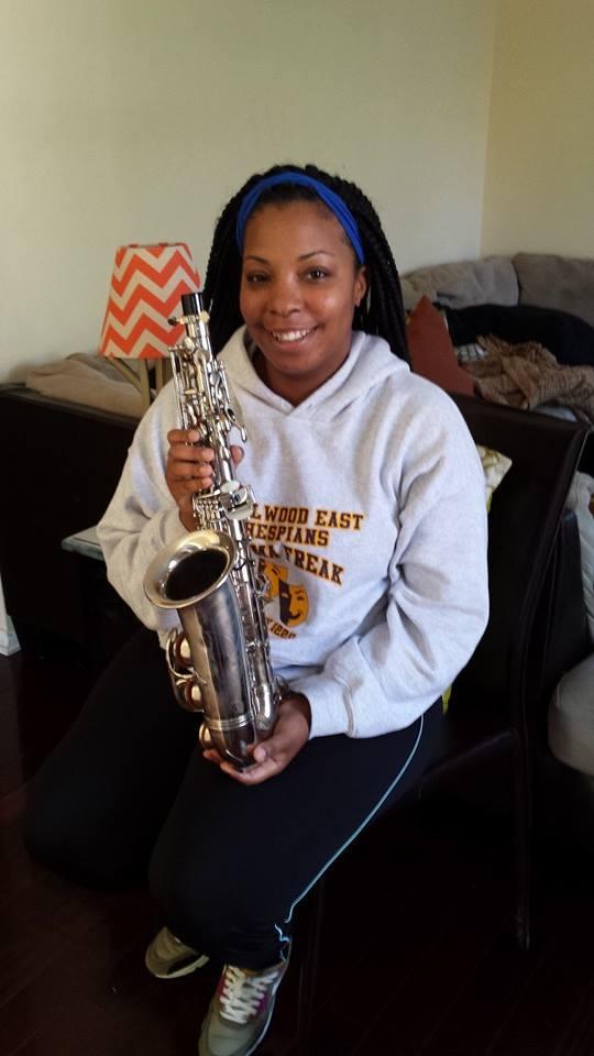 Recipient of Donated Saxophone